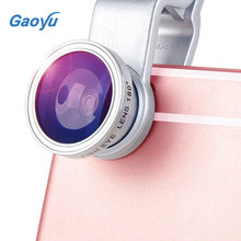 Wholesale Hot sale Fisheye Lens 3 in 1 mobile phone lenses fish eye +wide angle +macro camera lens for Universal Smartphone