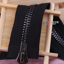 NO.8# Double Sliders two ways metal zipper for coat