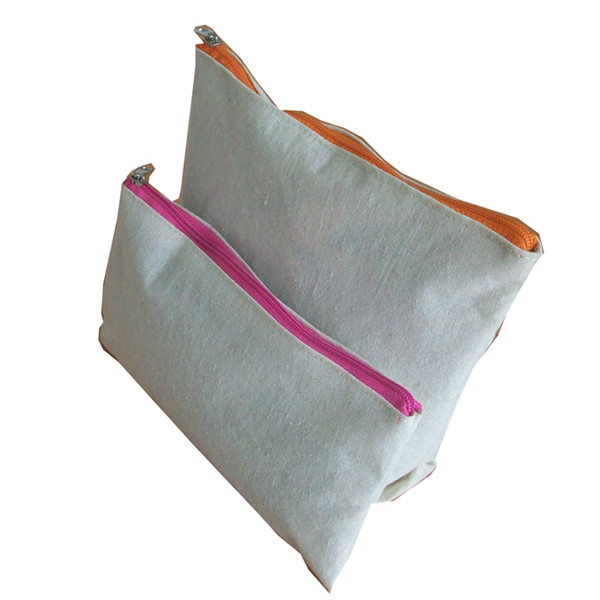 Small Cotton Canvas Zipper Pouch With Personal Logo - Buy Zipper ...