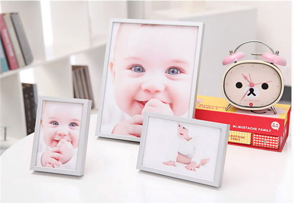 popular aluminum material baby photo frames Oxidation colors wholesale cheap price family photo frames good quality