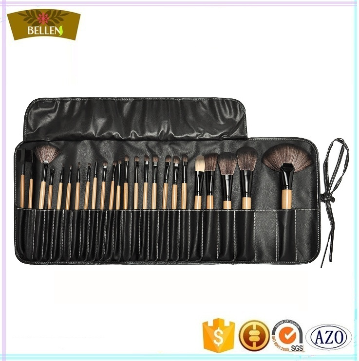 24pcs professional rolling make up brushes beauty makeup brush case