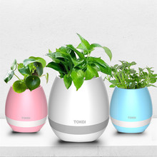 New arrival funny gadget led light music flower pot with bluetooth speaker