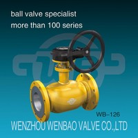 WB-126 Fully welded flanged ball valve for gas /ball valve DN50 PN25