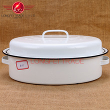 white procelain enamel coated cast iron cookware/enamel pot wholesale