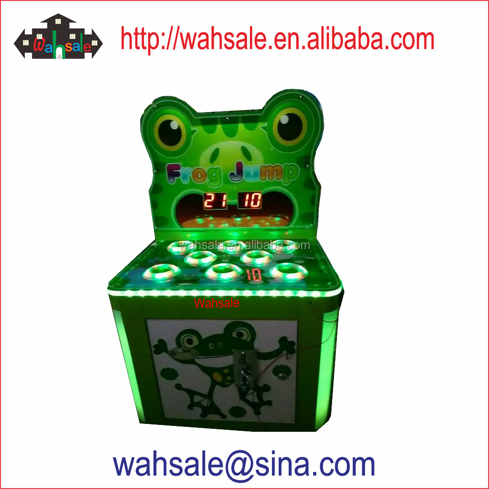 Wahsale coin operated arcade game hammer hit on frogs game machine