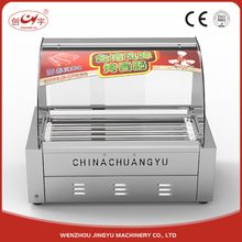 Chuangyu Stainless Steel Two Switch Control Corn Hot Dog Rolling Grill Machine