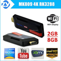 Facotry supply !! google android 4.4 internet tv stick Mk809 4k with quad core RK3288 A17 tv dongle