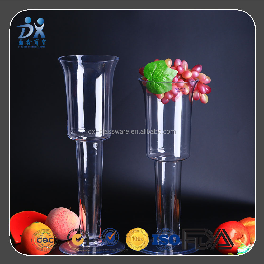 Customized Clear LONG NECK Long-Stem Glass Vase