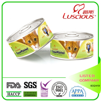 170g Tuna and Whitebait Cat Canned Food Supplier