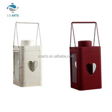Customed european windproof metal candle holder hanging lanterns in trees