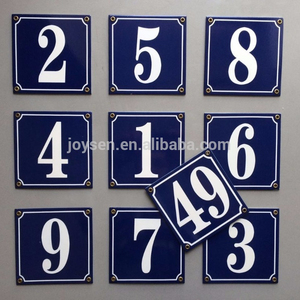 Enamel door number plates Porcelain boards outdoor signs