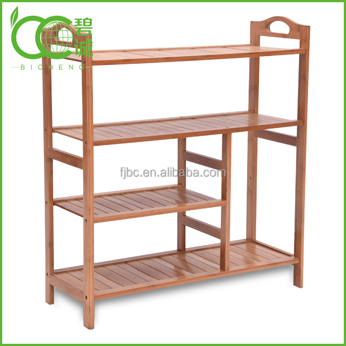 100% Natural 2/3/4/5 Tiers Bamboo Shoe Rack