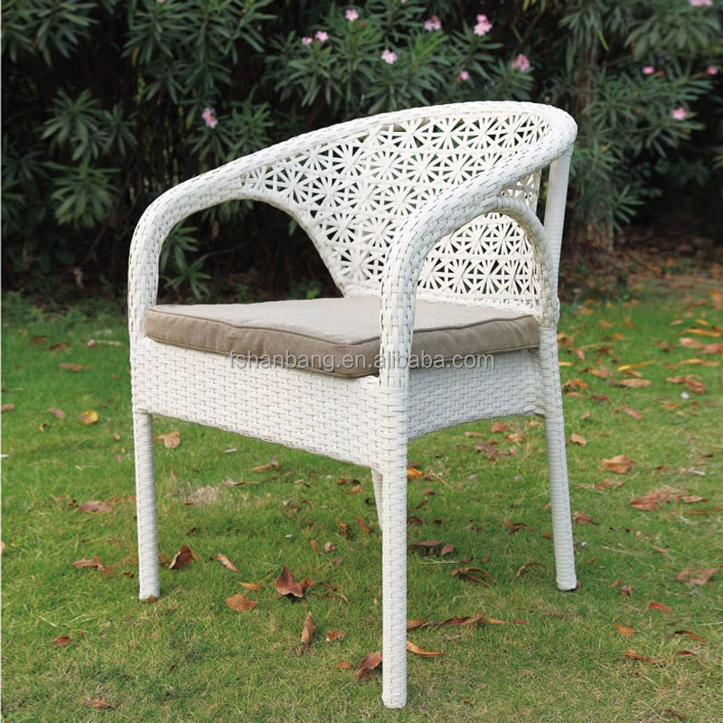 2016 New Cheap Outdoor Resin Wicker coffee shop rattan ratten arm chair