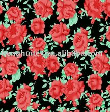 rose printed polar fleece fabric
