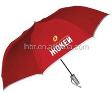 Windproof Protection factory price red and white fold up umbrella