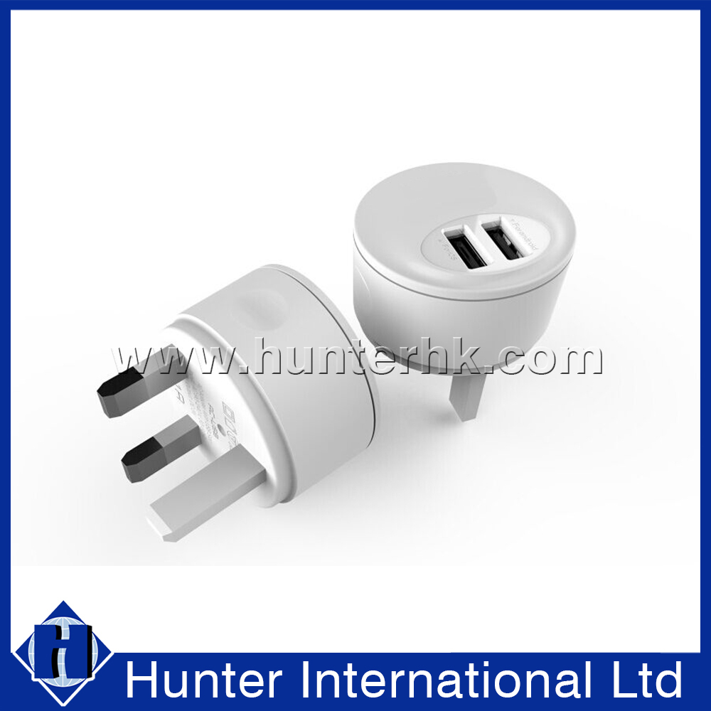 New Shaped Dual USB For Mobile Phone Travel Charger