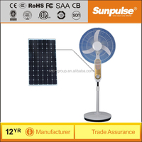 16 inch 12v dc rechargeable solar fan with LED lights price,