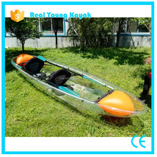 double seat clear kayak transparent