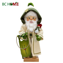 exquisitely crafted santa claus wooden Nutcracker snow man