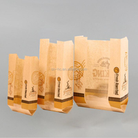 fried bread food chicken packaging greaseproof coated paper bag