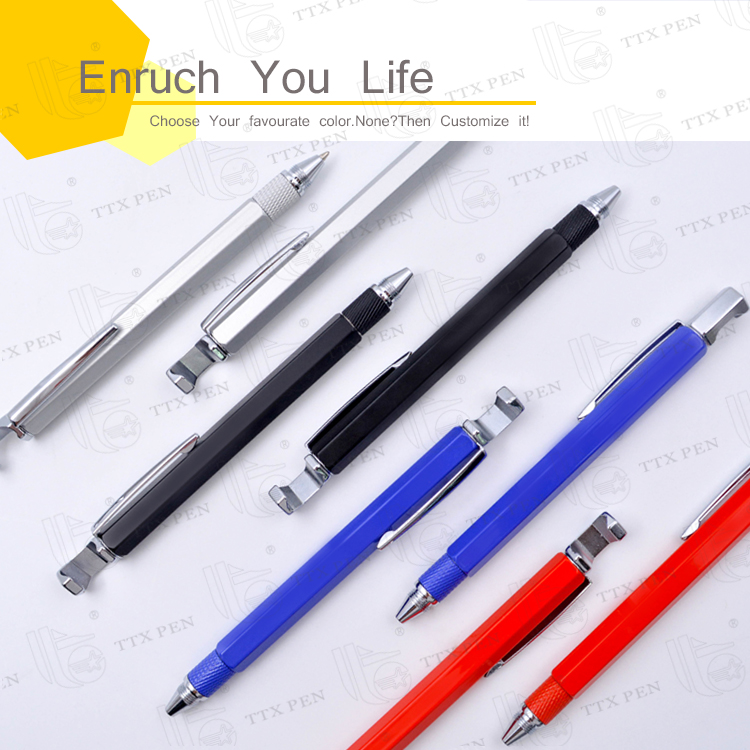 Good Quality cheap 5 in 1 multifunction gift metal stylus touch ball pen
