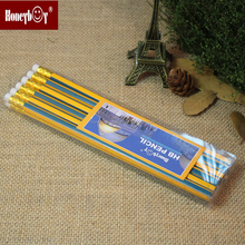 Box-packed HB Pencil With White Eraser Toppers For Children