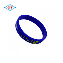 China manufacturers custom brand promotional silicone wristband