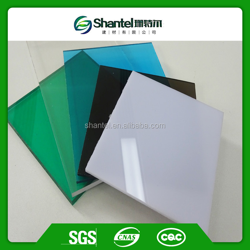 Anti-scratchs Colored Lexan Bayer Clear 16mm Solid Polycarbonate Sheet