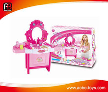 Newest dressing table girl make up toys for child
