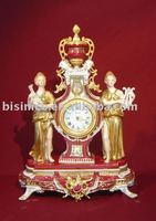 Classical Antique art table clock,home decoration ceramic, pottery, porcelian,MOQ:1PC(B15025)