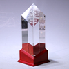 High quality Nice red wooden base custom crystal cup trophy