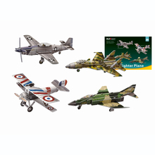 3D DIY paper Jigsaw Puzzle  craft toy,4 Plane Fighter Series,model assemble(F-4,Nieuport 17 P-51D Mustang,Sukhoi 37)