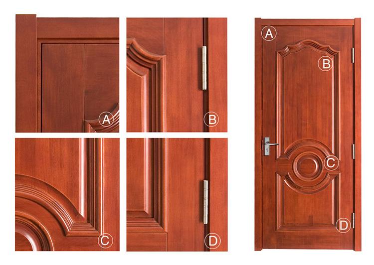 Novo modelo de estilo europeu de madeira portas de entrada for Estilos de puertas de madera
