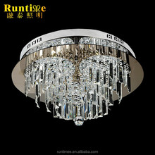 Silver dining room LED crystal hanging lighting small home lights