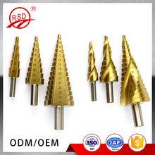Reamer Triangle Shank 3Pcs 4-12 / 20 / 32mm Large Titanium HSS Step Cone Drill Bit Hole Cutter Set Fluted Edge Step Drill Bit