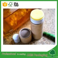 cylindrical paper box for lipstick packaging with rolled edge push up paper tube