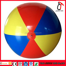 MOQ 10 pieces high quality PVC Inflatable 1M or 2M giant beach ball
