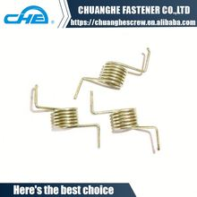 High temperature double coil torsion spring