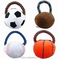 New Arrival Sport Rope Ball Puppy Squeaker Soccer Ball Dog Plush Ball Interactive Toys
