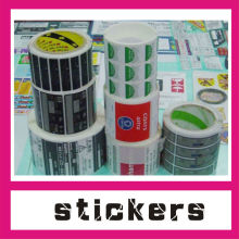 Guangzhou custom OEM packaging material gloss/sandblasting surface self adhesive label sticker printing