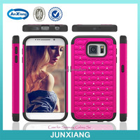 China manufacturer heavy duty bling armor case for samsung galaxy s6