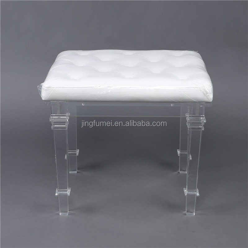 acrylic stool inflatable vintage foot inflate industrial chair