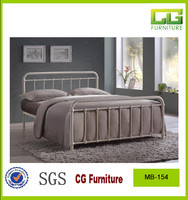 white iron bed 2015 new style metal frame wooden slat metal bed for europr and USA market