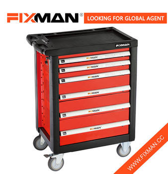 FIXMAN 6 Drawer Roller Car Repair Tool Trolley Workshop