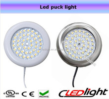 3W Slim Dimmable led puck light Led mirror lamps UL ( can be connected in series)