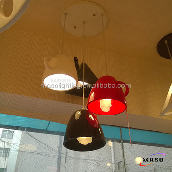 Modern Teapot Mug shade Resin Material Pendant Four Lamp Set Indoor Coffee Shop Decorative lamp
