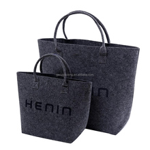 fashion design elegant recyclable soft 2mm wool felt tote bag with custom logo
