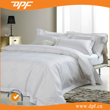 Wholesale Hotel Bedding linen 100% Cotton White Plain / Stripe /wave Jacquard Bedding set