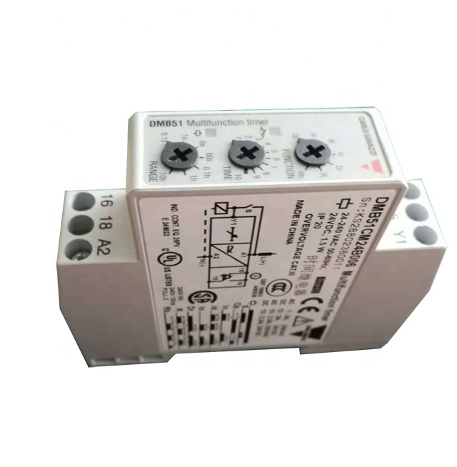 Carlo Gavazzi DMB51CM24B006 7 kKnob-selectable Functions DIN-rail 24VDC/24-240VAC SPDT Multi-voltage Time Relay
