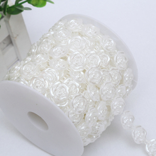10 Meters Flat back Rose Flower Plastic string decoration beads strings for <strong>wedding</strong>